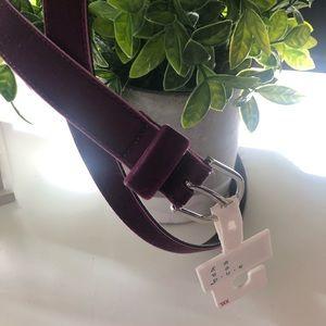 NWT Women's Purple velour belt Size XL, L